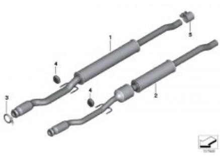 Catalytic converter/front silencer