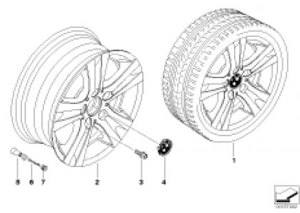 BMW LA wheel/double spoke 222