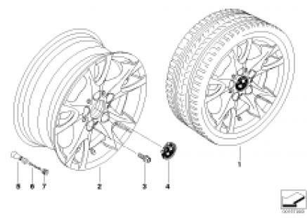 BMW light alloy wheel, V-spoke 255