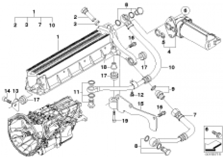 GS7S47BG Transmission oil cooler