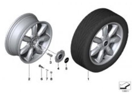 MINI LA wheel, night spoke, limp-home