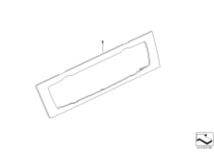 Individual trim panel, auto, climate
