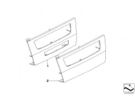 Individual trim cover MASK / CCC