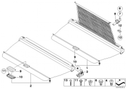 Extending cargo cover/partition net