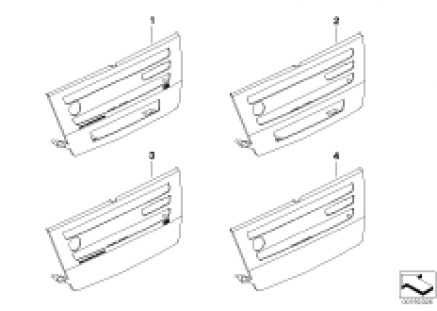 Individual trim cover for CCC