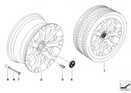 BMW LA wheel Y-spoke 211