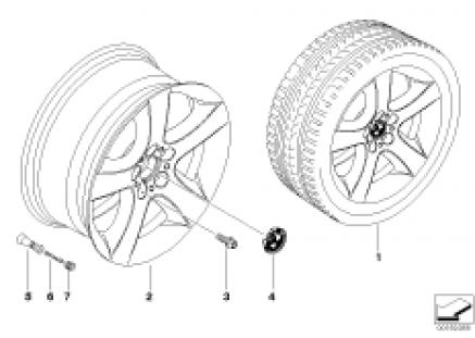BMW LA wheel, star spoke 212