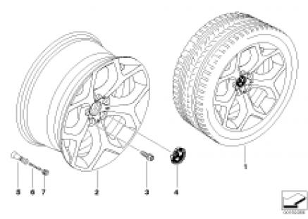 BMW LA wheel Y-spoke 214