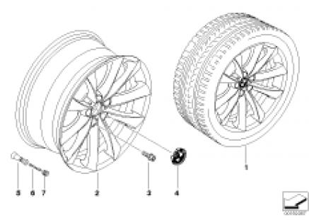 BMW LA wheel V-spoke 239