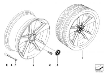 BMW LA wheel Star Spoke 128 w/o PA337