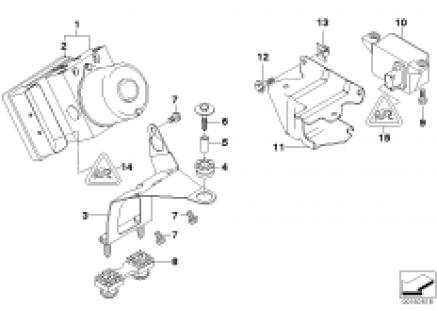 Hydro unit DSC/fastening/sensors