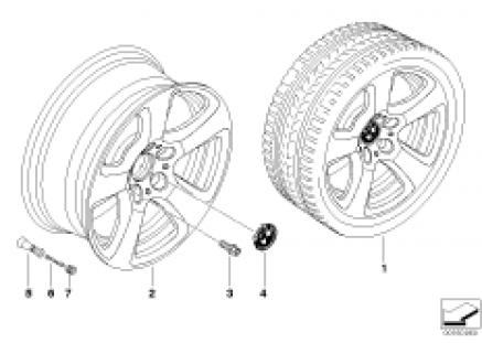 BMW LA wheel, star spoke 243