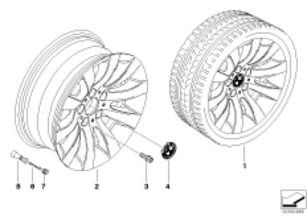 BMW LA wheel, radial spoke 244