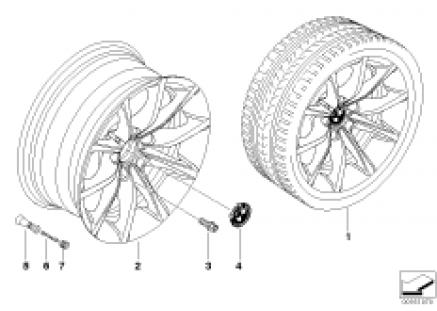BMW light alloy wheel, V-spoke 245