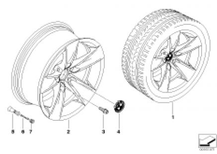 BMW LA wheel, star spoke 246