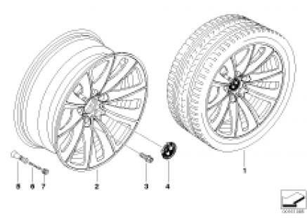 BMW LA wheel, dual spoke 247