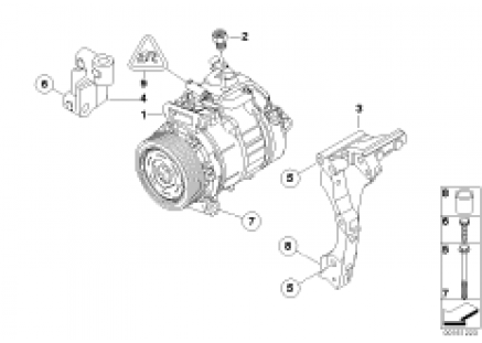 Air-conditioner compressor/mounting part