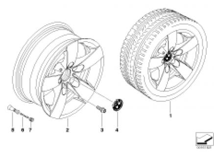 BMW LA wheel, star spoke 242