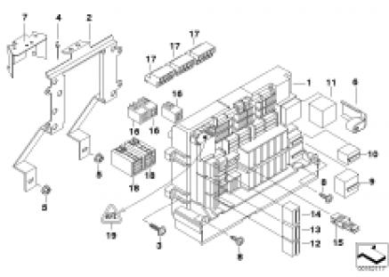 Individual parts, power distributor, fr.