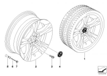 BMW LA wheel, dual spoke 268
