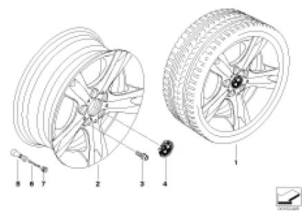 BMW LA wheel, star spoke 262