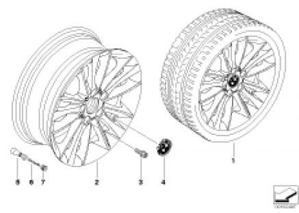 BMW LA wheel, W spoke 263