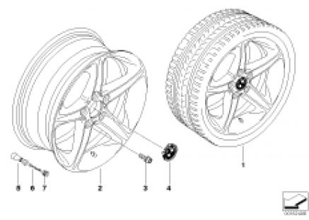 BMW LA wheel, star spoke 264