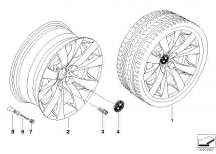 BMW light alloy wheel, V-spoke 248