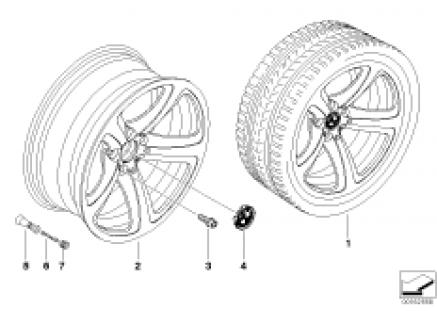 BMW LA wheel, star spoke 249