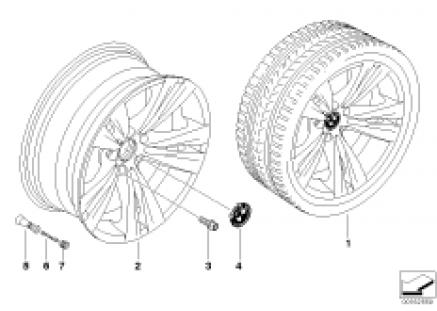 BMW LA wheel, dual spoke 266
