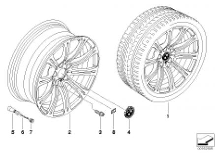 BMW LA wheel, dual spoke 220