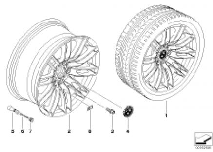 BMW LA wheel, M dual spoke 260