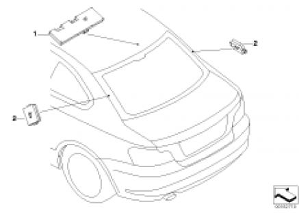 Single parts f antenna-diversity