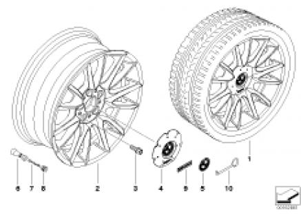 BMW LA wheel Individual w. V spokes 228