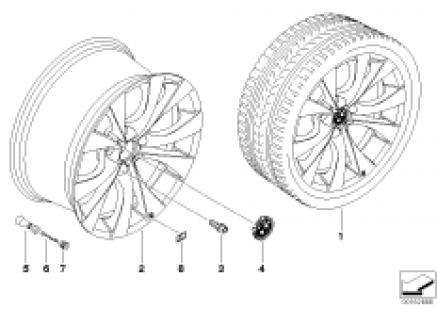 BMW M LA wheel, V spoke 227