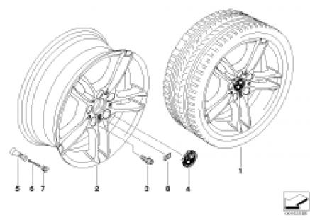 BMW LA wheel, dual spoke 261
