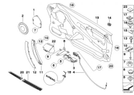 Door lining single parts