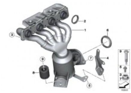 Exhaust manifold with catalyst