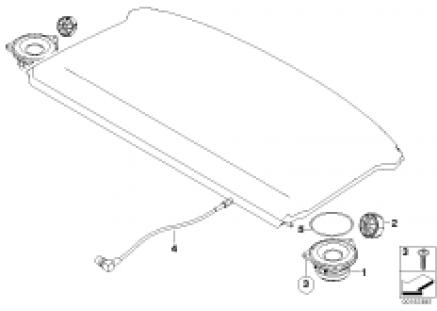 Single parts f rear helf loudspeaker