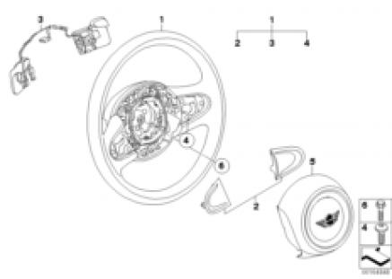Steering wheel airbag shift paddles