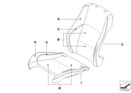 Individual cover, Sport seat, front LC