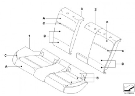 Indiv. load-through for seat, rear, LC