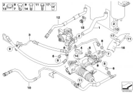 Power steering/oil pipe/Active steering