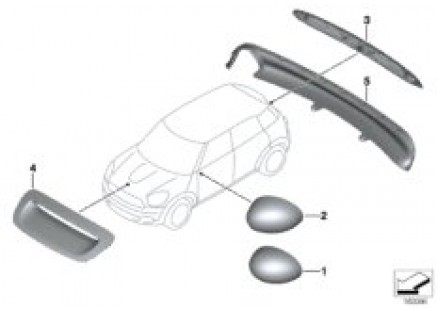 JCW aerodynamics accessory parts ¿ R5x
