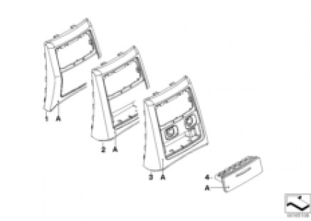 Individual center console covers, rear
