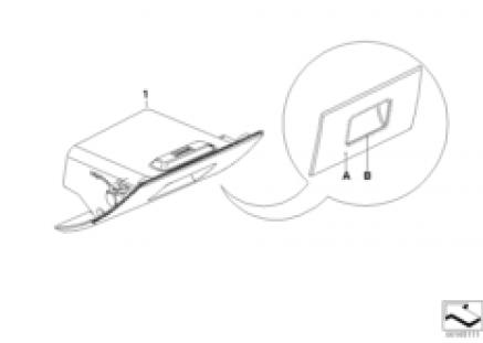 Individual folding storage, instr. panel
