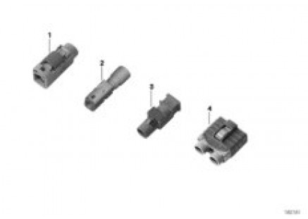 Plug housing for antenna cable, FAKRA