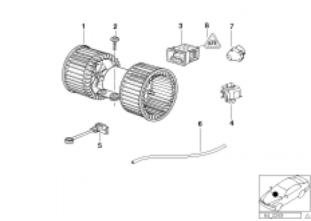 Electric parts for heater