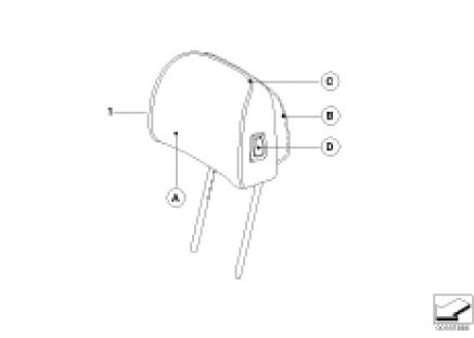 Indv. headrest, basic seat, front