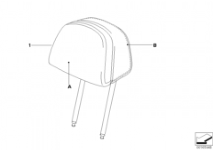 Ind. headrest, comfort seat, front